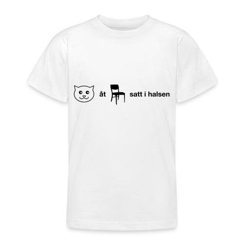 Katt åt stol - T-shirt tonåring