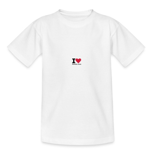 I Love Swedish Girls Vit T-SHIRT - T-shirt tonåring