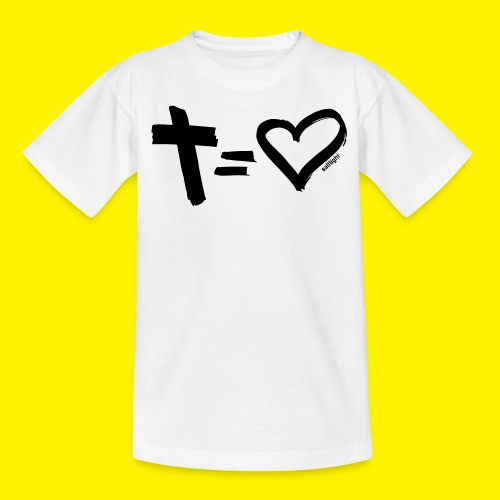 Cross = Heart BLACK - Teenage T-Shirt