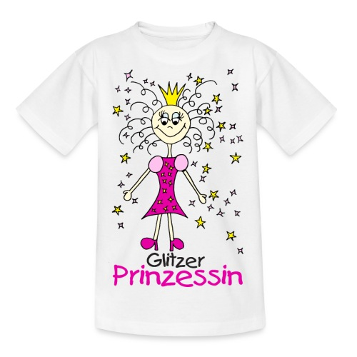 Glitzer Prinzessin - Teenager T-Shirt