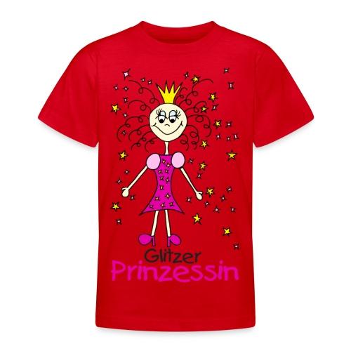 Glitzer Prinzessin - Teenager T-Shirt