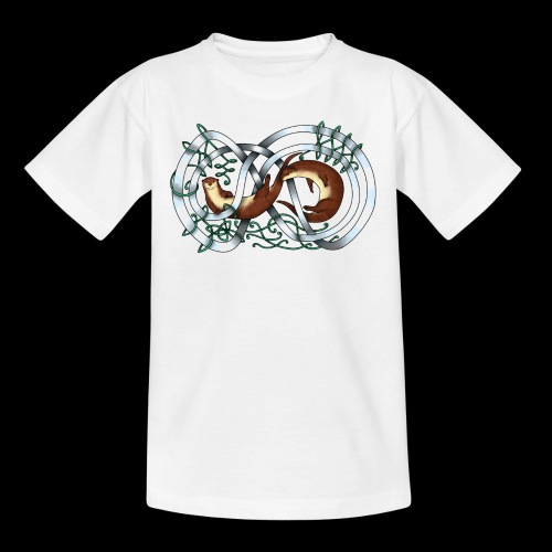 Otters entwined - Teenage T-Shirt