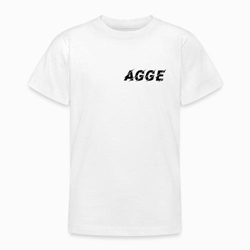 Agge - Svart Logga | Fram - T-shirt tonåring