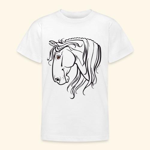Cheval espagnol (noir) - T-shirt Ado