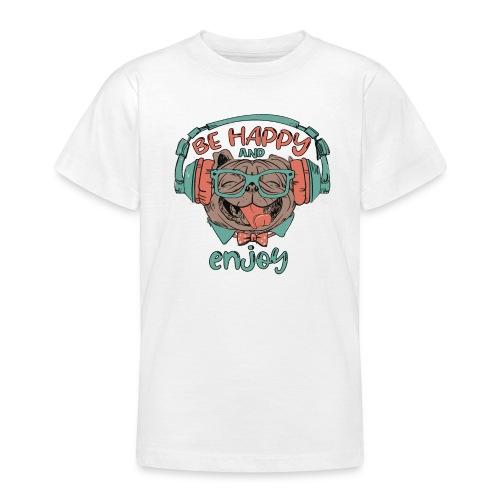 Be happy Mops and enjoy / Genießer Hunde Leben - Teenager T-Shirt