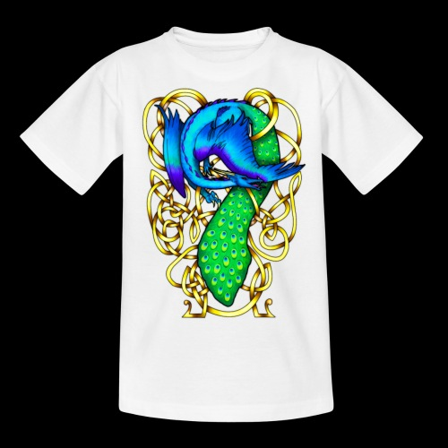 Peacock Dragon - Teenage T-Shirt