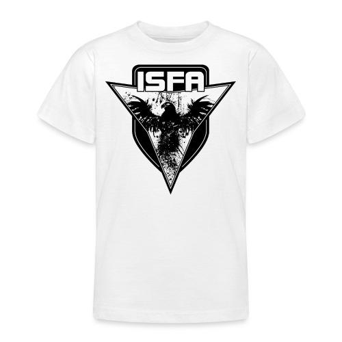 isfa logo 1c schwarz - Teenager T-Shirt