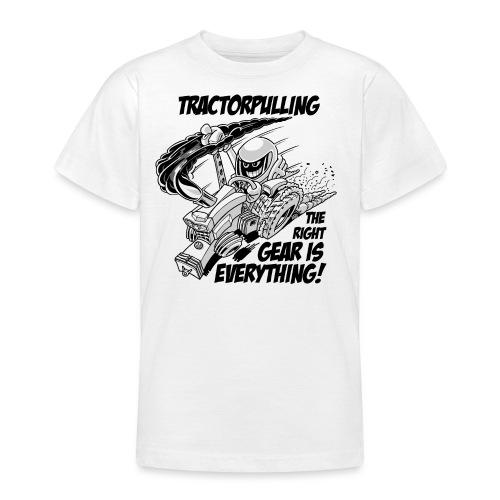 0966 tractorpulling BW - Teenager T-shirt
