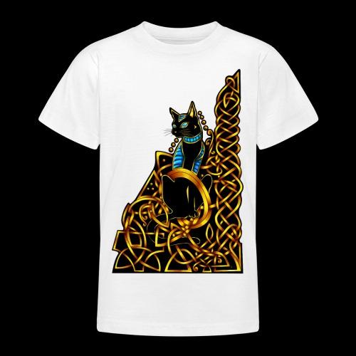 Celtic Cat - sitting - Teenage T-Shirt