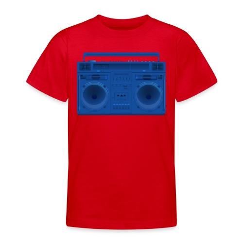 Bestes Stereo blau Design online - Teenager T-Shirt