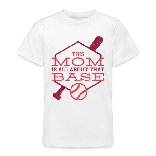 Bestes Baseball Mamma Design - Teenager T-Shirt