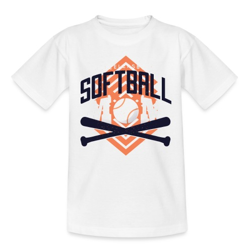 Bestes Softball Mamma Design - Teenager T-Shirt