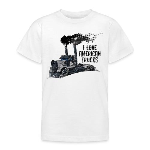0789 American truck ROUGH smoke - Teenager T-shirt