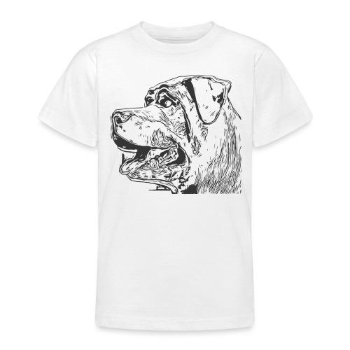 Rottweiler Mund offen schwarz - Teenager T-Shirt
