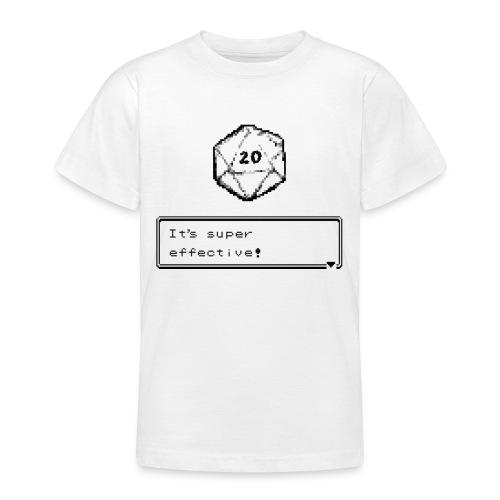 Kriittinen osuma d20 Super Effective! - D & D Dnd - Nuorten t-paita