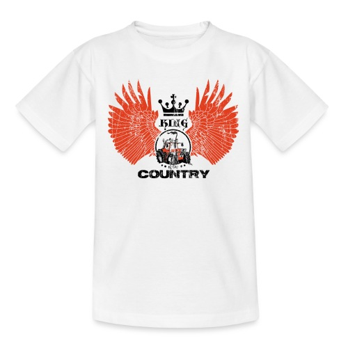 WINGS King of the country zwart rood op wit - Teenager T-shirt