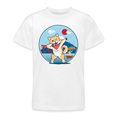 Japanischer Akita Hund mit Dab Pose - Teenager T-Shirt