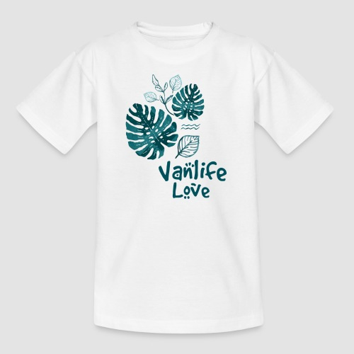 Vanlife Love Dschungelprint - Teenager T-Shirt