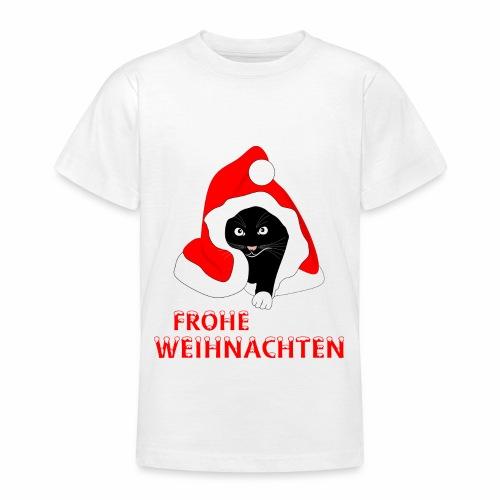 Frohe Weihnachten - Schwarze Katze - T-shirt Ado