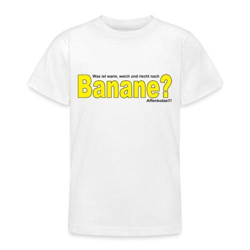 Was ist warm weich und riecht nach Banane? - Teenager T-Shirt