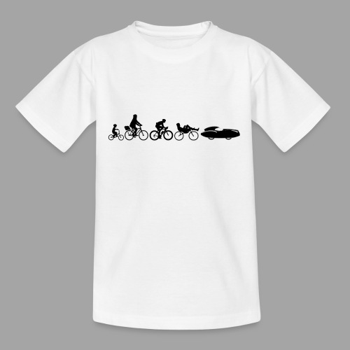 Bicycle evolution black Quattrovelo - Nuorten t-paita