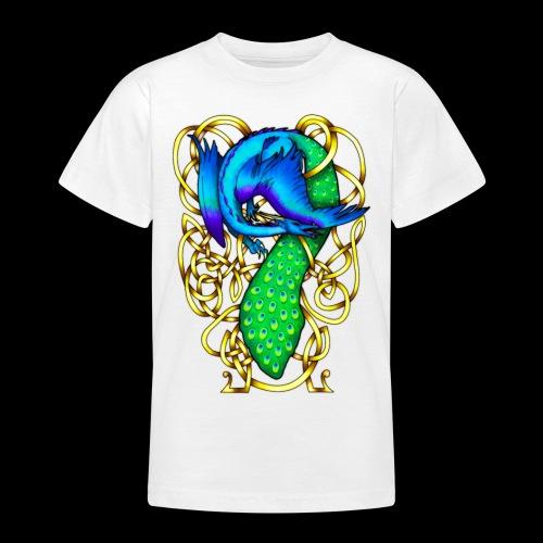 Peacock Dragon - Teenage T-Shirt