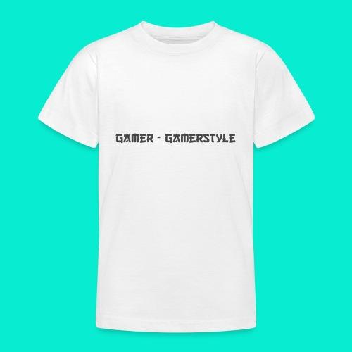 GAMERSTYLE | NICESCHRIFT Schwarz - Teenager T-Shirt