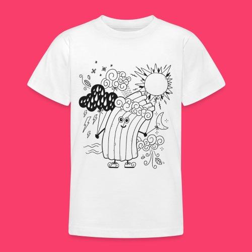 Rudi Regenbogen Wetter-Motiv zum Ausmalen - Teenager T-Shirt