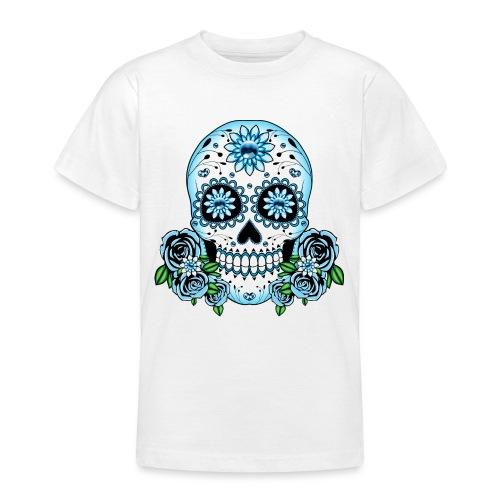 Blue Sugar Skull - Teenage T-Shirt