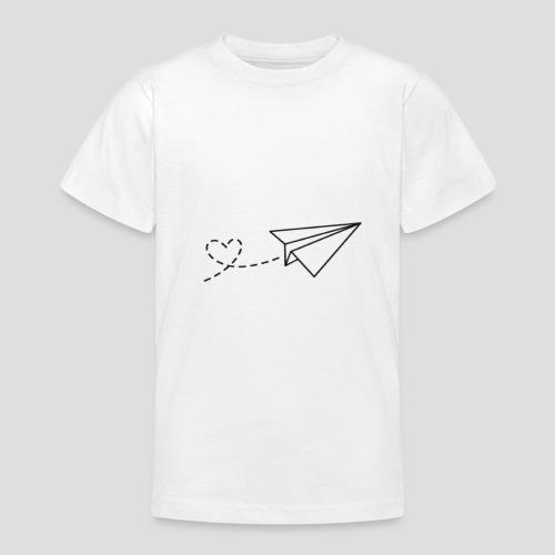 Papierflieger - Liebe - Teenager T-Shirt