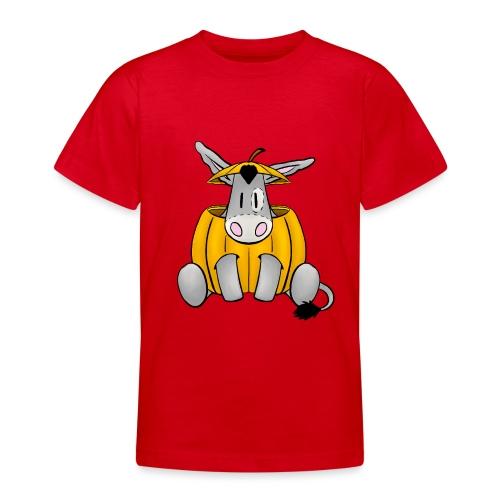 Esel im Kürbis zu Halloween - Teenager T-Shirt