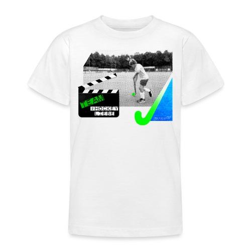 Team #Hockeyliebe weiß - Teenager T-Shirt