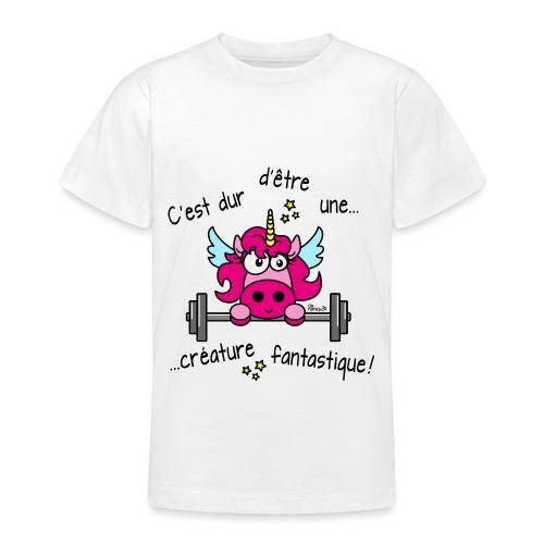 Licorne Muscu Créature Fantastique - T-shirt Ado