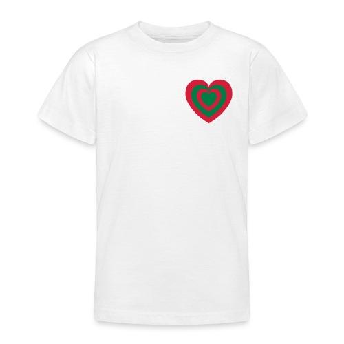 cuore Rosso-Verde - Maglietta per ragazzi