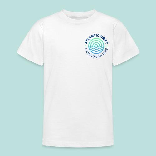 Atlantic Drift Logo (Blue) - Teenage T-Shirt