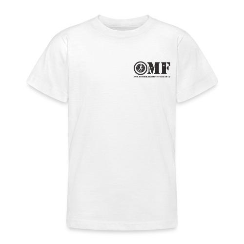 OMF black logo - Teenage T-Shirt