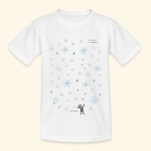A wish on a snowflake - Winter - Hochformat - Teenager T-Shirt