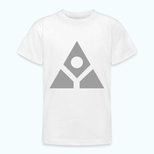 Sacred geometry gray pyramid circle in balance - Teenage T-Shirt