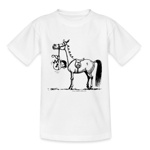 Thelwell Cartoon Stures Pony - Teenager T-Shirt