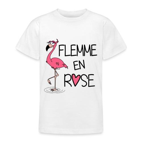 Flamant Rose / Flemme en Rose - T-shirt Ado