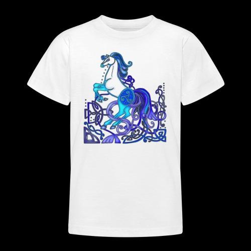 Celtic Horse Silver Blue - Teenage T-Shirt