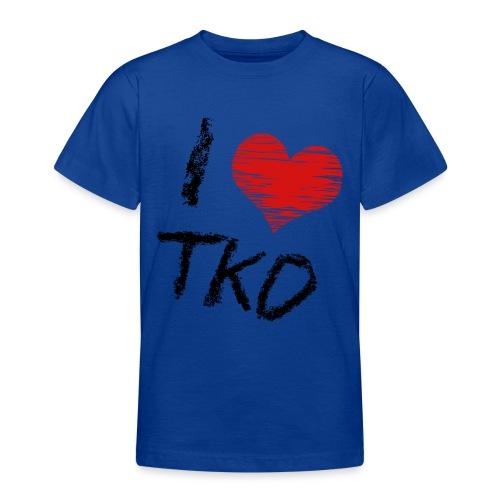 I love tkd letras negras - Camiseta adolescente