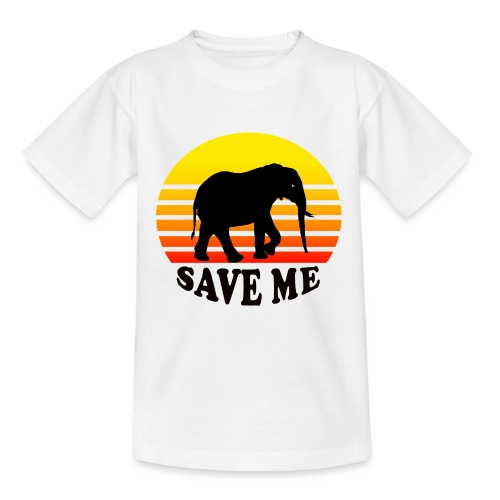 Elefant SAVE ME Schattenriss Sonne - Teenager T-Shirt