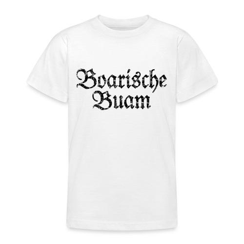Boarische Buam Männer aus Bayern (Vintage Schwarz) - Teenager T-Shirt