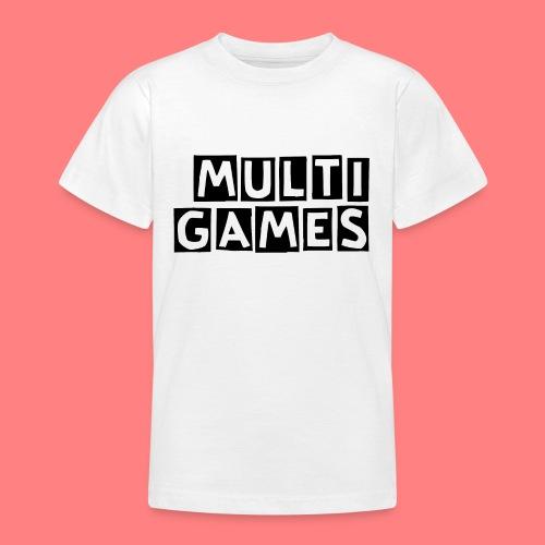 Multi Games Zwart - Teenager T-shirt