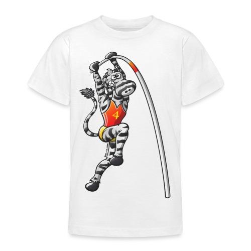 Pole Vault Zebra - Teenage T-Shirt