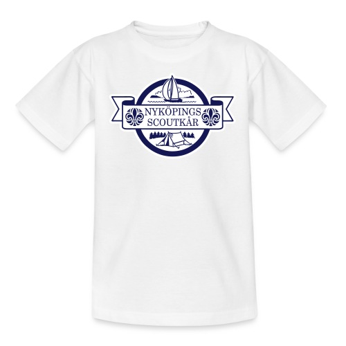 Kårlogotyp med bakgrund (blå) - T-shirt tonåring