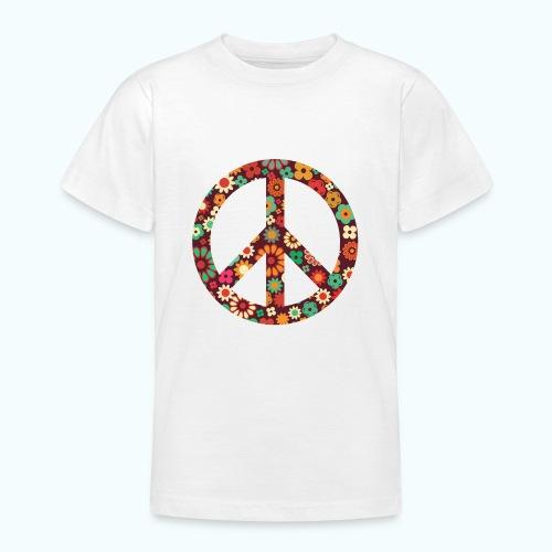 Flowers children - peace - Teenage T-Shirt