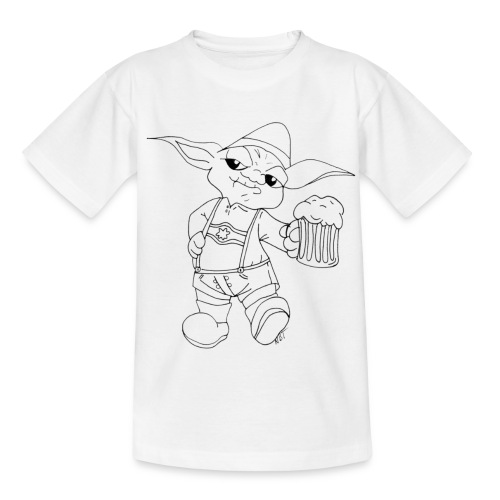 Yoda Lederhose - Teenager T-Shirt
