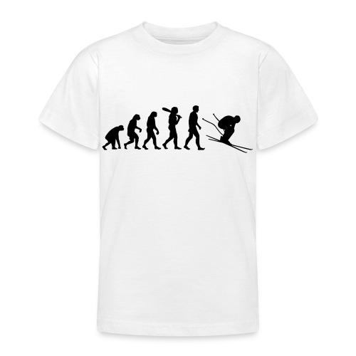 Evolution Skifahrer - Teenager T-Shirt